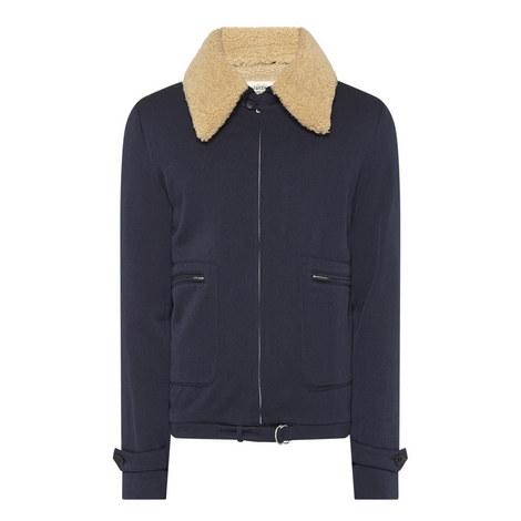 Shearling Blouson Jacket, ${color}