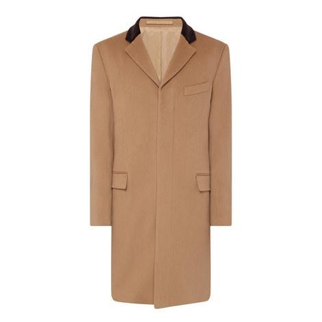 Velvet Collar Overcoat, ${color}