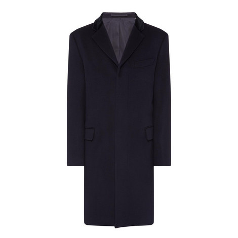 Velvet Collar Overcoat, ${color}