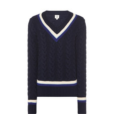 V-Neck Cricket Sweater