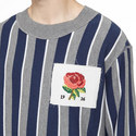 Striped Rose Sweater, ${color}