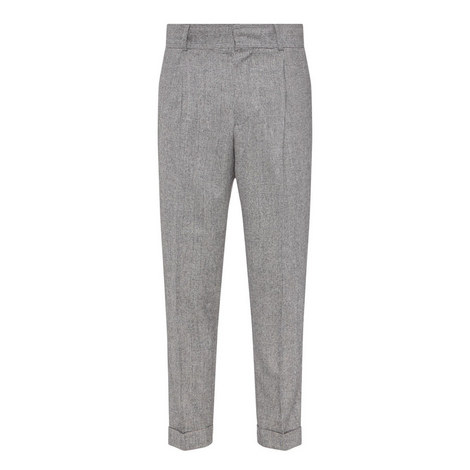 Williams Check Flannel Trousers, ${color}