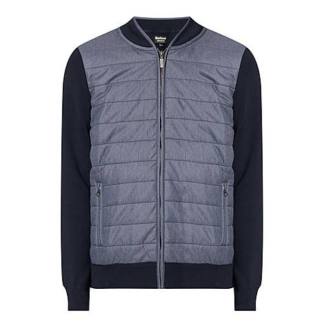 Baffle Quilted Front Zip Jacket, ${color}