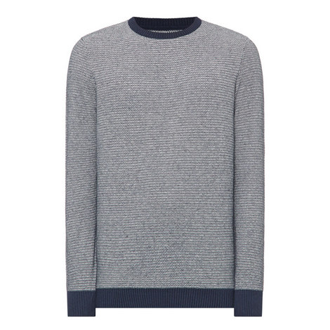 Perch Textured Crew Neck Sweater, ${color}