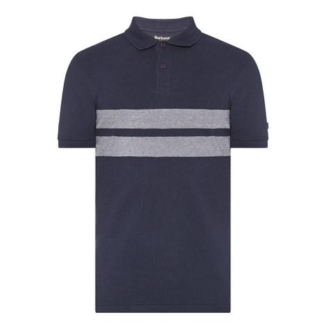 Spark Chest Stripe Polo Shirt, ${color}