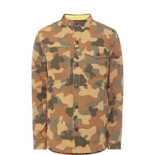 Camouflage Button-Through Overshirt