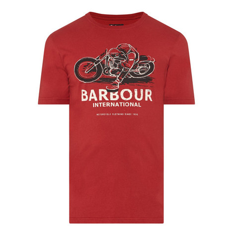 Turn Motorcycle Print T-Shirt, ${color}