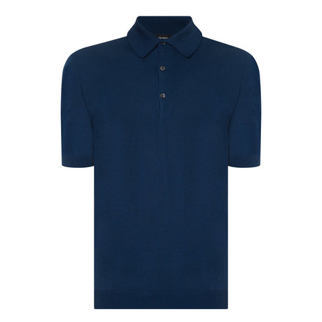 Adrian Slim Knit Polo, ${color}