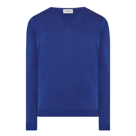 Blenheim Merino Wool V-Neck Sweater, ${color}