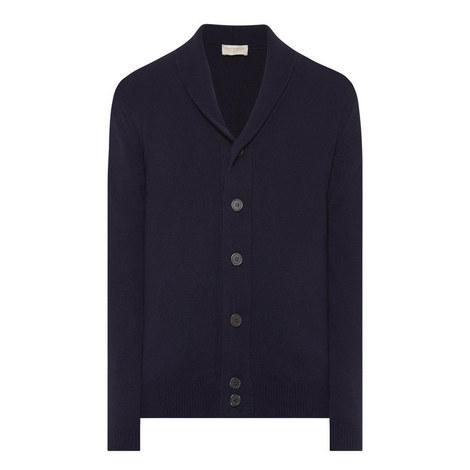 Shawl Collar Button-Down Cardigan, ${color}