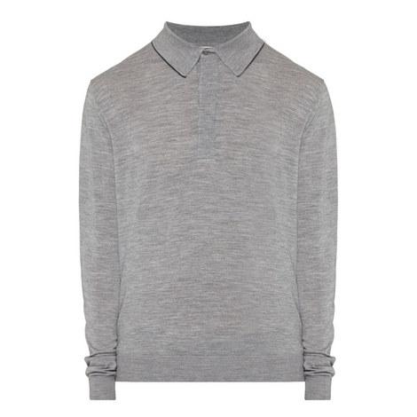 Long Sleeved Merino Polo Shirt, ${color}