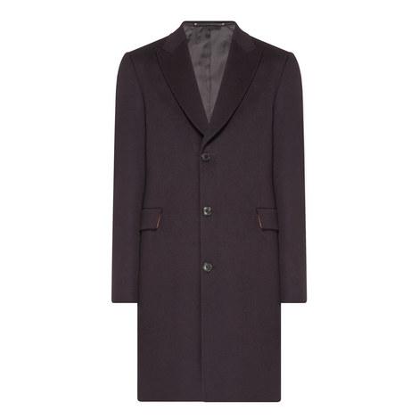 Peak Lapel Wool Mix Overcoat, ${color}