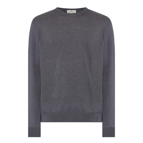 Cashmere-Silk Crew Neck Sweater, ${color}