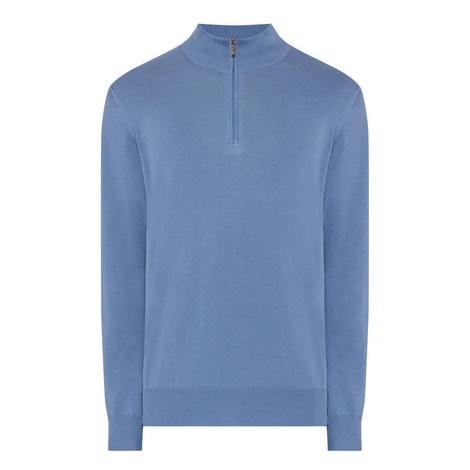Half-Zip Cotton Sweater, ${color}