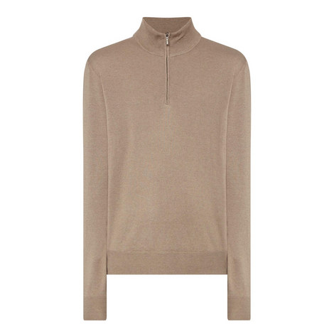 Half-Zip Cashmere Silk Sweater, ${color}