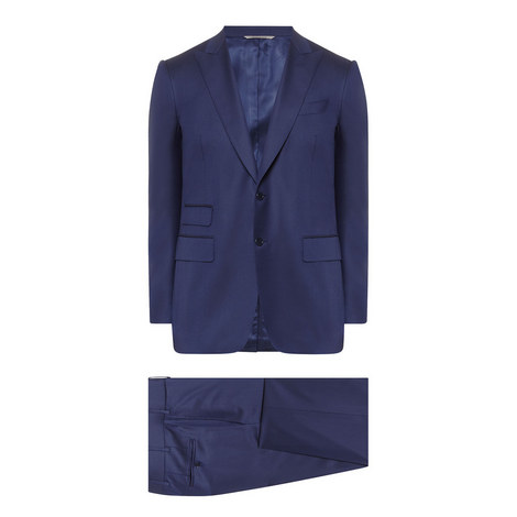 2 Piece Wool Twill Suit, ${color}
