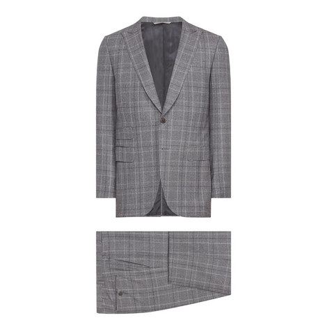 2 Piece Check Suit, ${color}