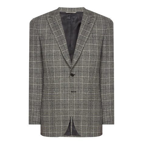 Single Breasted Check Jacket, ${color}