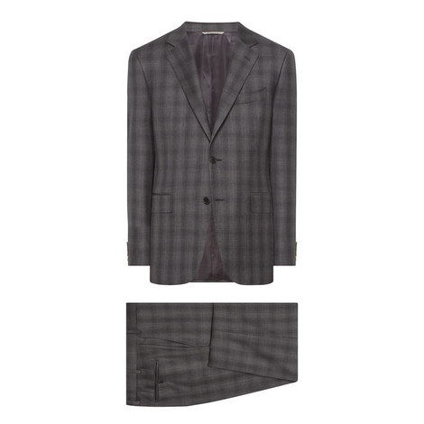 2-Piece Check Suit, ${color}