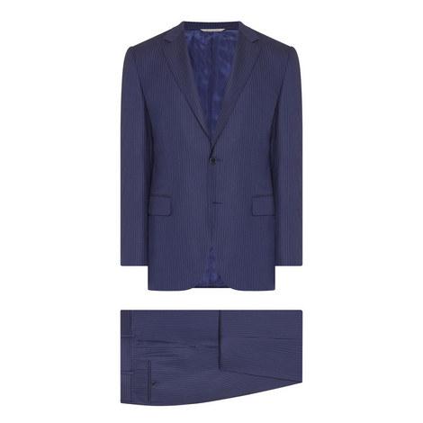 2 Piece Pinstripe Suit, ${color}