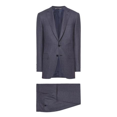 2-Piece Micro Check Suit, ${color}