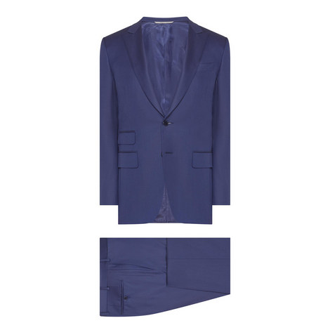 2-Piece Wool-Twill Suit, ${color}