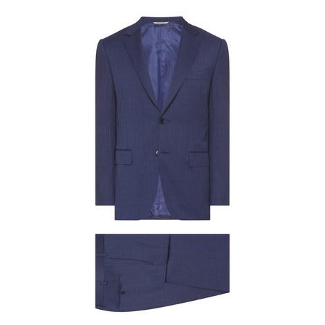 2-Piece Textured Stripe Suit, ${color}