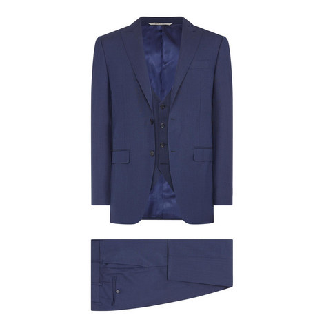 Textured Three-Piece Suit, ${color}