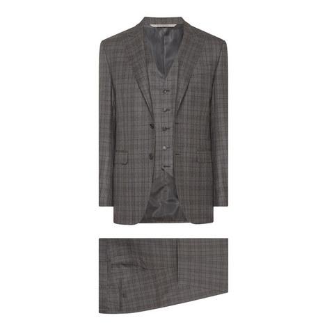 Check Pattern 3-Piece Suit, ${color}