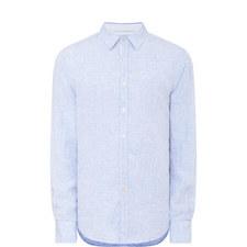 Trimmed Linen Shirt