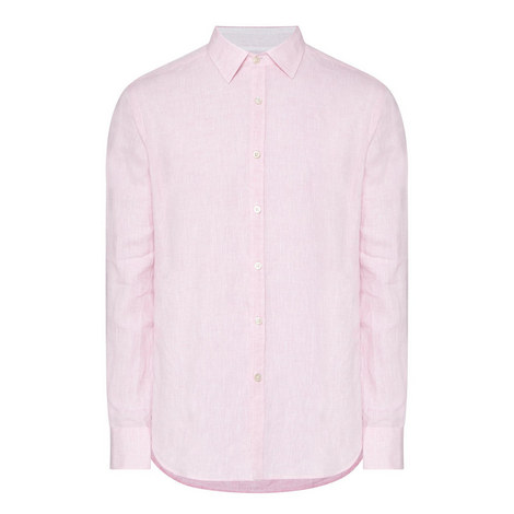 Trimmed Linen Shirt, ${color}