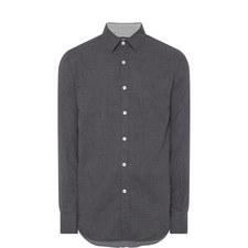 Check Pattern Trimmed Shirt