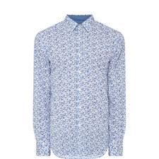 Floral Trimmed Shirt