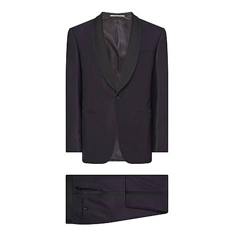 Shawl Collar Two-Piece Suit, ${color}