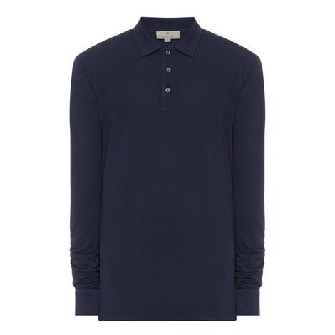 Long Sleeve Piqué Polo Shirt, ${color}