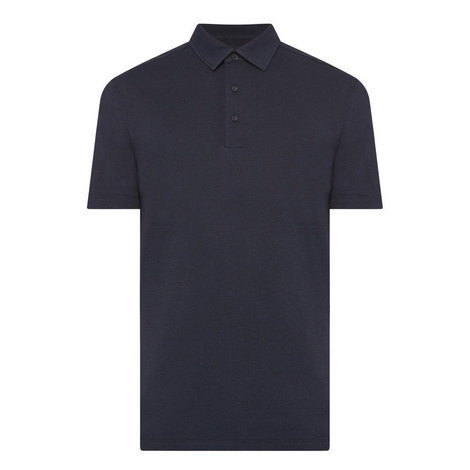 Silk-Cotton Polo Shirt, ${color}