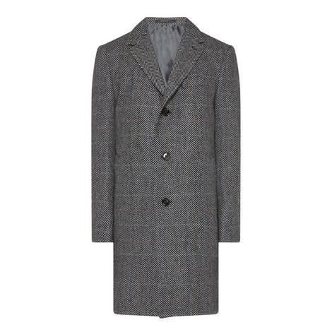 Herringbone Tweed Jacket, ${color}