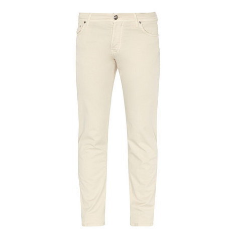 Stretch-Cotton Twill Trousers, ${color}