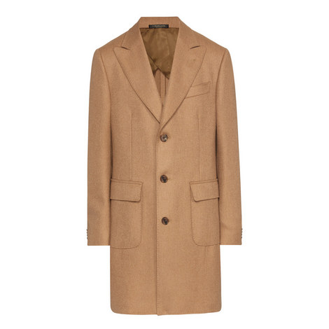Peak Lapel Camel Hair Overcoat, ${color}