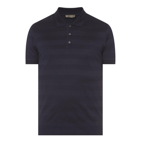 Textured Stripe Polo Shirt, ${color}
