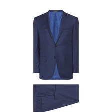 Check Print Slim Fit Suit