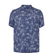 Leaf Print Linen Shirt