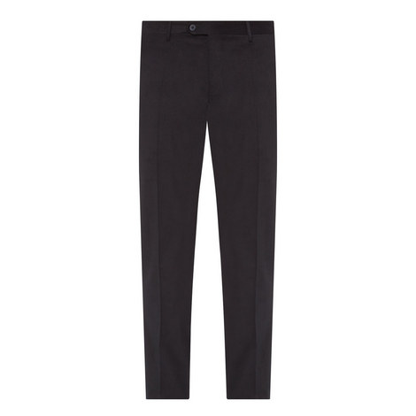 Straight Leg Cotton Trousers, ${color}