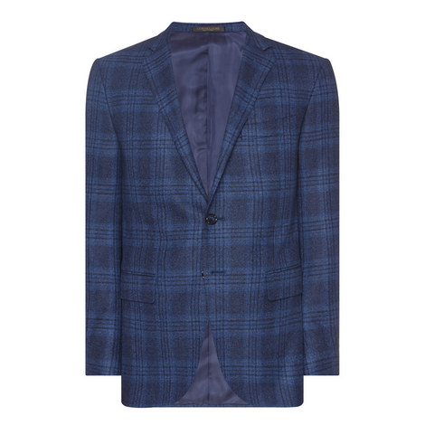 Check Single-Breasted Jacket, ${color}