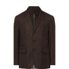 Single Breasted Herringbone Jacket