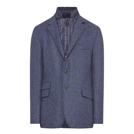 Textured Wool Mix Jacket, ${color}