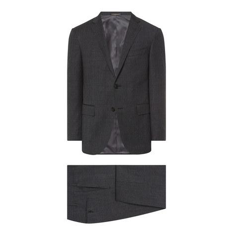 2 Piece Melange Wool Suit, ${color}