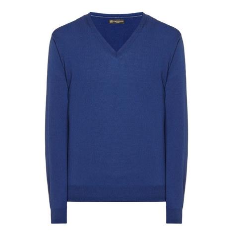 V-Neck Merino Wool Sweater, ${color}
