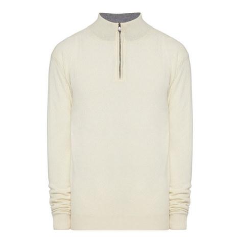 Half-Zip Wool Mix Sweater, ${color}