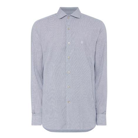 Micro Check Pattern Shirt, ${color}